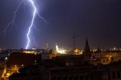 молния города стоковое фото