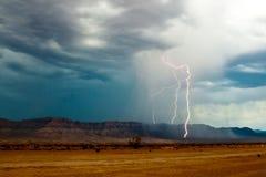 Молния грандиозного каньона Стоковое фото RF