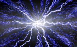 молния излучая Стоковые Изображения RF
