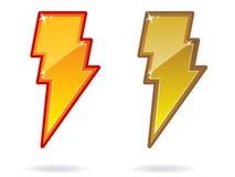 молния иконы болта Стоковая Фотография