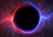 Молния круга огня и льда иллюстрация вектора