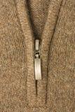 Молния на ткани ткани шерстей Стоковое Изображение