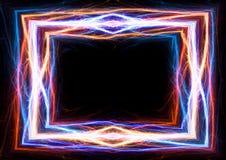 Молния огня и льда и электрическая рамка бесплатная иллюстрация