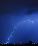 молния хруста Стоковая Фотография