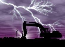 молния backhoe Стоковая Фотография RF