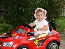 Молодая автомобилистка Стоковые Изображения