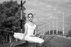 Молодая балерина внешняя Стоковые Фото