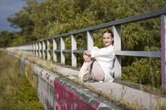 Молодая балерина внешняя Стоковая Фотография