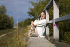 Молодая балерина внешняя Стоковая Фотография RF
