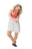 Молодая белокурая девушка в танцульке. Стоковая Фотография