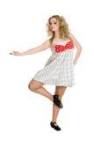 Молодая белокурая девушка в танцульке Стоковое Изображение
