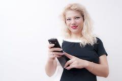 Молодая белокурая женщина стоковые фотографии rf