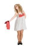 Молодая белокурая танцулька девушки Стоковые Изображения RF