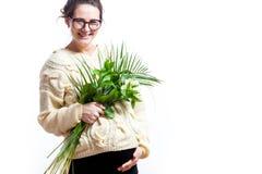 Молодая беременная женщина стоковые фотографии rf