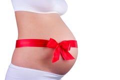 Молодая беременная женщина Стоковые Фото