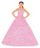 Молодая дама в флористической юбке Стоковая Фотография RF