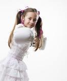 Молодая девушка самолет-истребителя Стоковое Фото