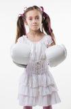 Молодая девушка самолет-истребителя Стоковые Фото