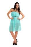 Молодая женщина в милом платье Стоковые Изображения