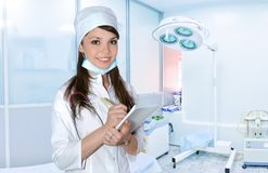Молодая женщина медсестры Стоковое фото RF