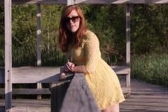 Молодая женщина снаружи Стоковая Фотография