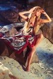Молодая женщина способа Стоковое Изображение RF