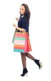 Молодая женщина с покупкой Стоковое фото RF