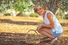 Молодая женщина фермера стоковое изображение rf