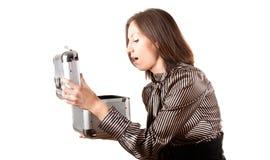 Молодая женщина bussines с случаем Стоковое Фото