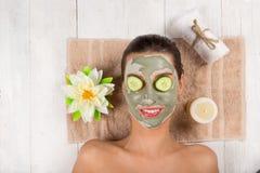Молодая здоровая женщина с лицевым щитком гермошлема Стоковое Фото