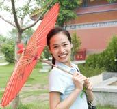 Молодая китайская женщина Стоковые Изображения
