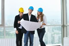 Молодая команда архитектора Стоковые Изображения RF