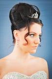 Молодая невеста в студии Стоковые Изображения