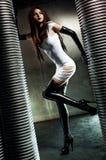 Молодая сексуальная женщина goth стоковые фотографии rf