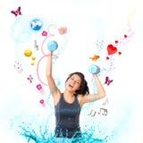 Молодая счастливая женщина стоковое фото