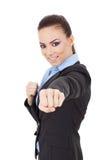 Молодое бой женщины дела Стоковое Фото