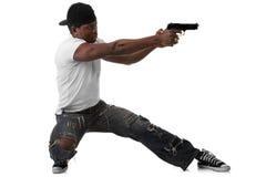 Молодой бандит с пушкой Стоковая Фотография RF