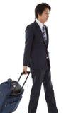 Молодой бизнесмен на командировке Стоковое фото RF