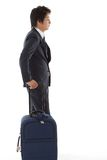 Молодой бизнесмен на командировке Стоковая Фотография RF