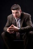 Молодой думать бизнесмена Стоковое Изображение RF