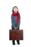 Молодой мальчик держа деревянный хобот Стоковое Фото
