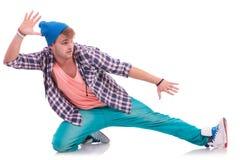 Молодой мыжской выполнять танцора Стоковая Фотография RF