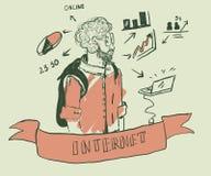 молодой профессионал нося красную рубашку стоковое изображение