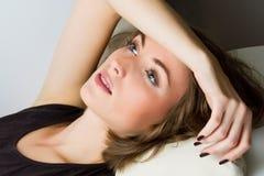 Молодой унылый портрет женщины Стоковые Изображения RF