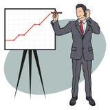 Молодой человек в деловом костюме изолированном на белой предпосылке, бизнесмен с бизнес-планом, комплектом положения бизнесмена Стоковое Изображение RF