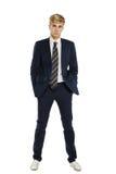 Молодой человек в костюме стоковое изображение