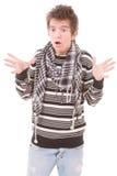 Молодой человек в панике стоковые изображения