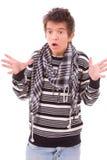 Молодой человек в панике Стоковые Фотографии RF