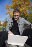 Молодой человек в парке Стоковое Фото