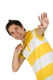 Молодой человек в тенниске Стоковые Изображения RF